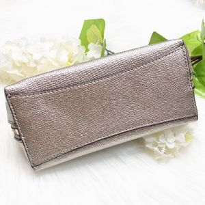 Coach Bags - {Coach} Gold Pebbled Leather Cosmetic Bag Pouch